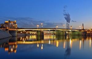 Съемка профиля моста.