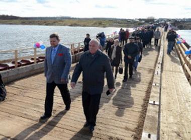 Мост, торжественно открытый кировским губернатором, утонул.